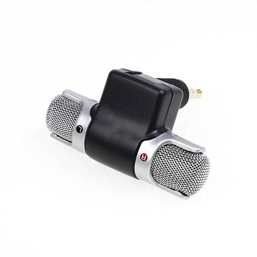 Mini micrófono estéreo de 3,5 mm, micrófono de audio estéreo ...