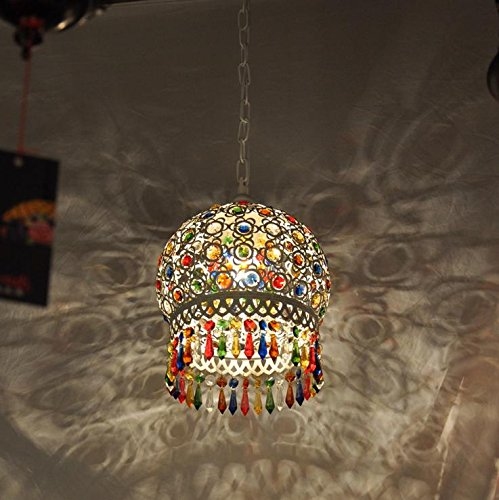 (YZL American Retro Southeast Asia Mediterranean Bohemia, Living Room Lamp Bedroom Dining Bronze Color Crystal Chandelier , 30w)