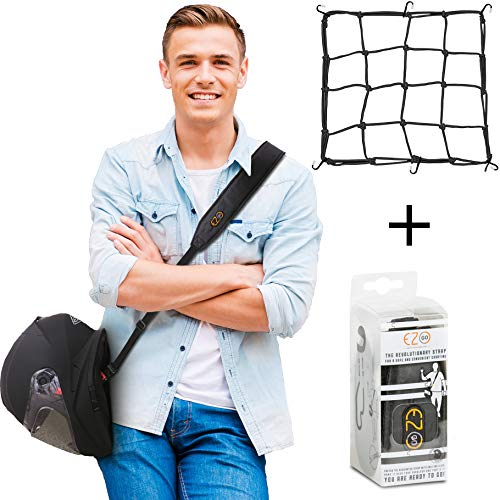 Road & Off-Road Motorcycle Helmet Carrier Accessories Bundle Featuring Cargo Net 15