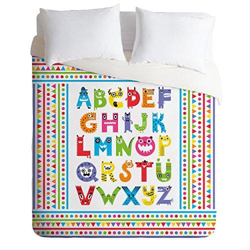 Deny Designs Andi Bird Alphabet Monsters Duvet Cover, King