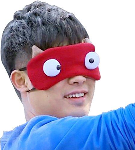 Adult Cute Animal Cartoon 3D Eyes Costume Sleeping Mask Eyeshade DarK Red (Cute Animal Costumes For Men)