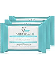 Vichy Pureté Thermale Micellar Makeup Remover Wipes, 25 Count (Pack of 3)
