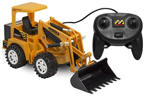 Kid Galaxy Remote Control Front Loader Vehicle. 6 Function Construction Toy Tractor