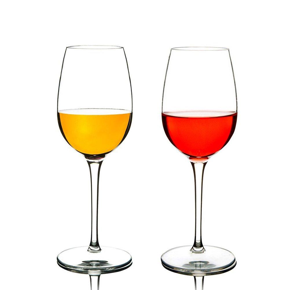 JYPC Unbreakable Red Wine Glasses,100% Tritan Shatterproof Plastic Wine Glass,BPA Free 12.5 OZ(Set of 2)