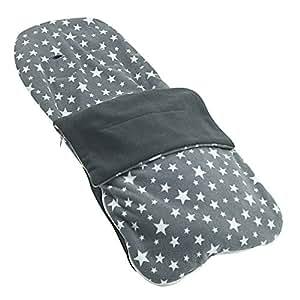 Snuggle - Carcasa verano saco compatible con Nania Beebop - gris Star: Amazon.es: Bebé