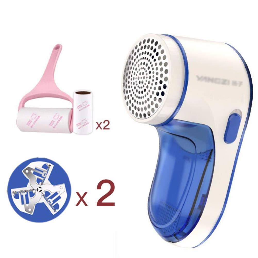 Fabric Shaver,Electric Lint Remover Rechargeable Fuzz Lint Remover with Free 2 pcs 3-bladed Professional Sweater Shaver Lint Fuzz Pill, 1 by CJSWT