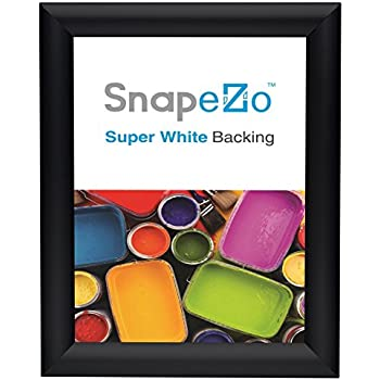 SnapeZo Weather Resistant Black Poster Frame 8.5x11 Inches, 1.38 Inch Outdoor Profile, Outdoor Poster Display Unit