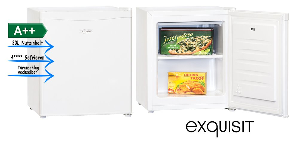 Exquisit GB 40-1 A++ Independiente Vertical 30L A++ Blanco - Congelador (Vertical, 30 L, N-ST, 42 dB, A++, Blanco) 0220013