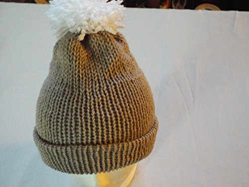 K&TDesign Unisex warm hat for winter with fur Pom - K Sunglasses White