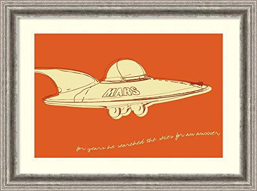 Framed Wall Art Print Lunastrella Flying Saucer by John W. Golden 25.75 x -