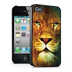 QYF Lion Pattern 3D Effect Case for iPhone4/4S