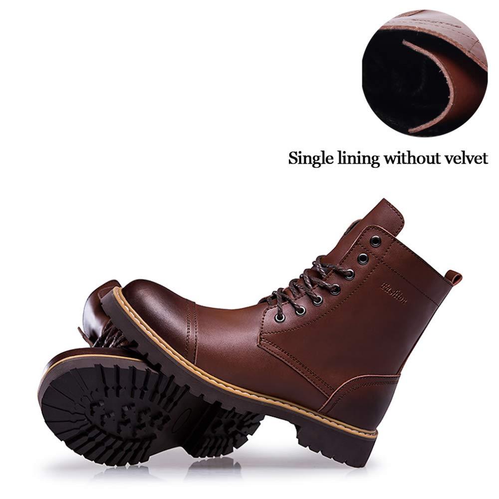 Calzado De Hombre Hombre Hombre Botas De Cuero Botas De Cuero De Alta Moda Calzados Al Aire Libre Calzado De Invierno Más Terciopelo Botas De Martin Senderismo Patín d9afe3