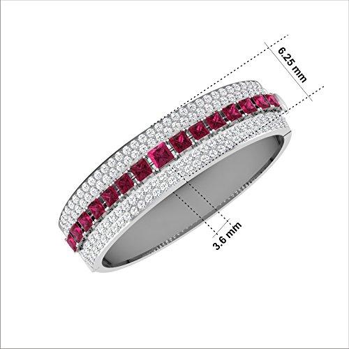 Libertini bracelet argent 925 femme plaque or Rose serti de Diamant et Saphir
