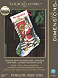 Dimensions Crafts Counted Cross Stitch Stocking, Welcome Santa