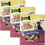 Cheap Three Dog Bakery Classic Wafers Apple Oatmeal 3PACK (39 oz)