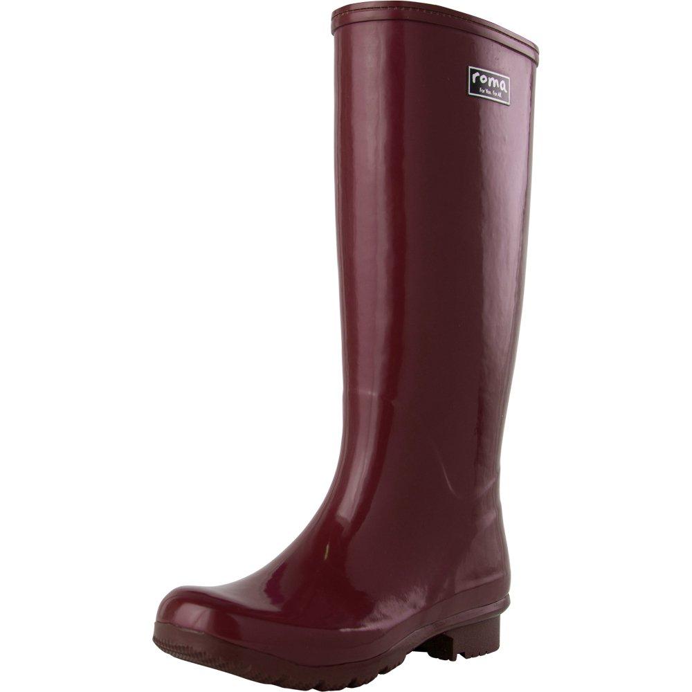Roma Boots Women's Emma Classic Rain Boots B07BQ42Z5N 8 M US|Maroon