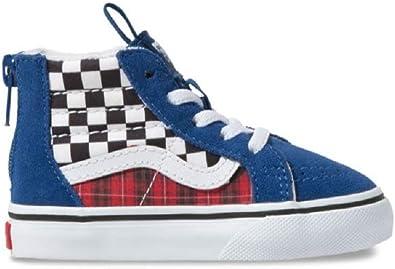blue checkerboard vans kids