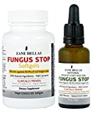 Fungus Stop Athletes Foot ADVANCED Solution KIT - Fungus Stop Athetes Foot Solution 30 ml+ Fungus Stop Softgels ,60 Softgels by ZANE HELLAS