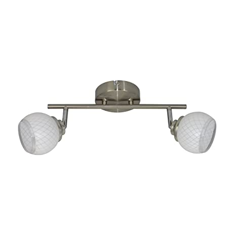 Lámpara de techo con 2 focos led