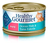 Blue Buffalo Healthy Gourmet Natural Adult Pate Wet Cat Food, Ocean Fish & Tuna 3-oz cans (Pack of 24)