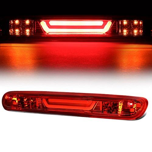 For Chevy Silverado/GMC Sierra 3D LED Bar 3rd Third Tail Brake Light Rear Cargo Lamp (Chrome/Red)