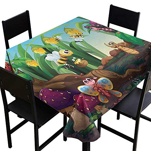 Animal Small Square Tablecloth 36