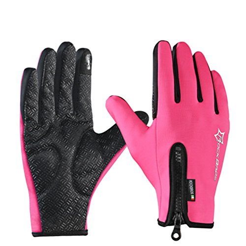 Womens Motorcycle Gloves Pink - 8
