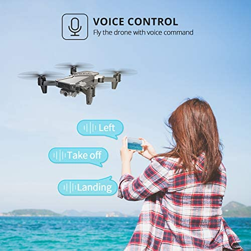 DEERC D20 Mini Drone for Kids with 720P HD FPV Camera Remote Control Toys Gifts for Boys Girls with Altitude Hold, Headless Mode, One Key Start, Tap Fly, Speed Adjustment, 3D Flips 2 Batteries 519XXwuhV8L