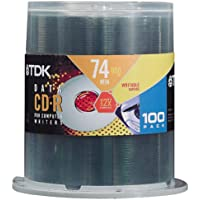 TDK 12x 650 MB/74-Minute CD-R Spindle (100 Discs)
