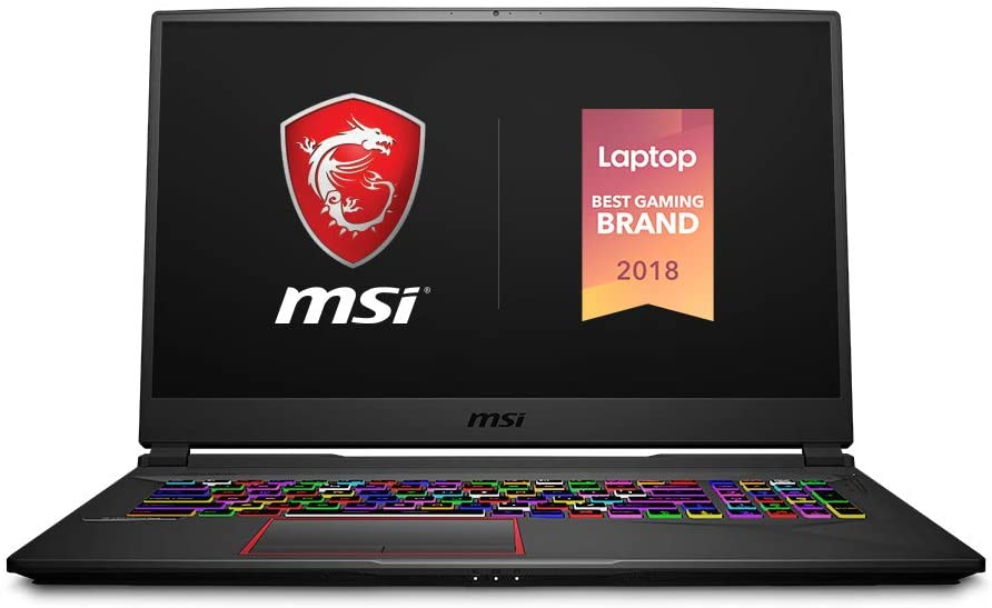 "MSI GE75 Raider-023 17.3"" Ultra Thin Bezel Gaming Laptop NVIDIA RTX 2080 8G, 144Hz 3ms, Intel i7-8750H (6 cores), 32GB, 1TB NVMe SSD + 2TB HDD,Per Key RGB, Win 10, Aluminum Black"