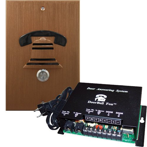 DoorBell Fon DP38 Door Answering System, M&S Mount, Bronze (DP38-BZM) by DoorBell Fon