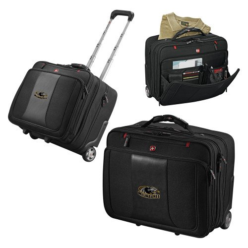 Wisconsin Milwaukee Wenger Transit Wheeled Black Compu Briefcase 'Official Logo' by CollegeFanGear