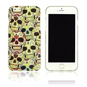 OnlineBestDigital - Designer Soft Case Cover for Apple iPhone 6 Plus (5.5 inch) Smartphone - IP6P-HP01-SKULL