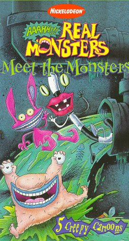 amazon com real monsters meet the monsters vhs charlie adler