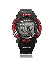 ELEGIANT Kids Children Electronic Digital LED Quartz Watch Date Sports Waterproof Wrist Watch Red