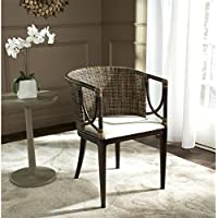 Safavieh Home Collection Beningo and Arm Chair, Brown and Black