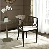 Safavieh Home Collection Beningo and Arm Chair, Brown and Black For Sale