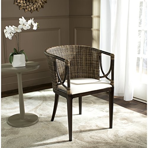 Safavieh SEA4001A Home Collection Beningo and Arm Chair, Brown Black
