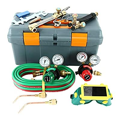 Image of 8MILELAKE Heavy Duty Gas Welding and Cutting Set Fuel Gas Regulator Victor Type 250 System