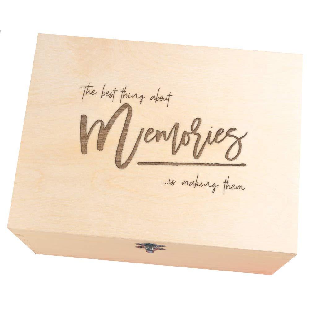 Caja de recuerdos de boda grabada para novia y novio – Regalos de boda para el señor y la señora – Regalos de compromiso para parejas – Regalos de inauguración de la casa para amigos – Mejor regalo de amigo para mujeres – recuerdos de madera caja de recuer