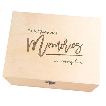 Caja de recuerdos de boda con grabado de novio para novia, regalos de boda,