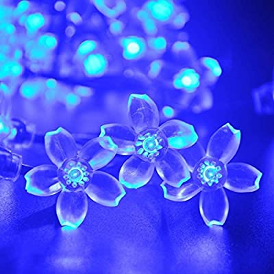 Flower Solar Outdoor String Lights,AMZstar® 21ft 50 LED Fairy Peach Blossom Christmas Lights Decorative Lighting for Indoor, Home, Garden, Patio, Lawn, Party and Holiday Decorations