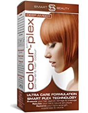 Smart Beauty   Deep Amber Copper Permanent Hair Dye  Professional Salon Quality Hair Colour   With Smart Plex Anti-breakage Technology which protects and strengthens hair during hair colouring