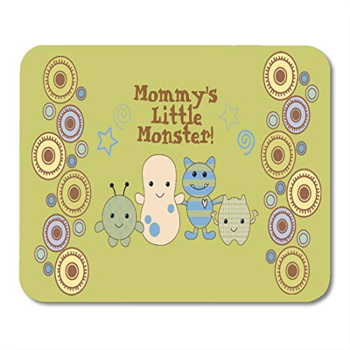 (Aikul Mouse Pads Cocalo Little Monsters for Nursery Peek Boo Baby Peeking Mouse Mat 9.5
