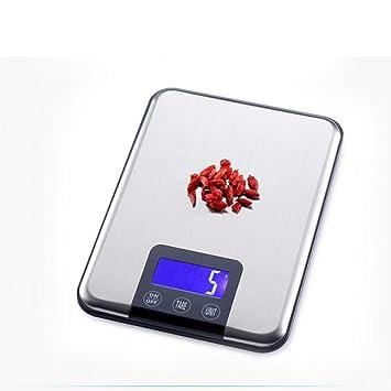 LOLIVEVE 15Kg 1G Báscula De Cocina Digital De Alta Precisión Balanza Báscula De Cocina De Acero
