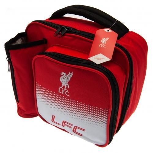 Liverpool FC Lunch Bag Fade Design Features Bottle Holder on Side