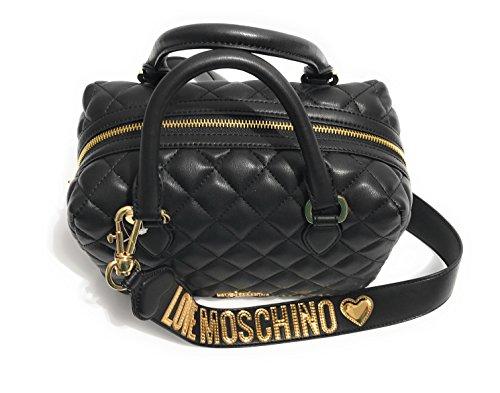 Moschino - Bolso de asas para mujer negro negro