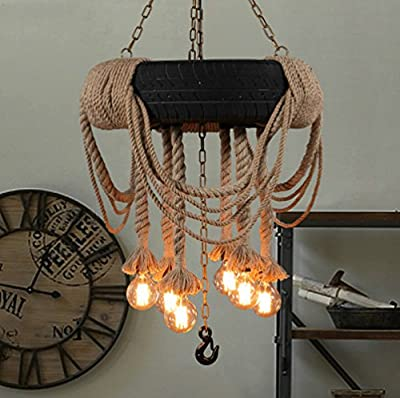 Aiwen Creative Tire Hemp Rope Chandeliers(Not Include Light Source)