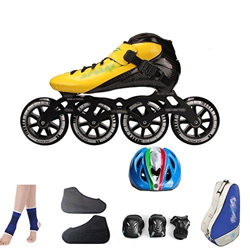 ZCRFY Zapatos De Patinaje De Velocidad De Fibra De Carbono Zapatos De Carreras Zapatos De Patinaje Sobre Ruedas De Los Niños Adultos Profesionales Grandes ...