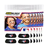 (24 Strips) Eye Black - Toronto Blue Jays MLB Eye Black Anti Glare Strips, Great for Fans & Athletes on Game Day